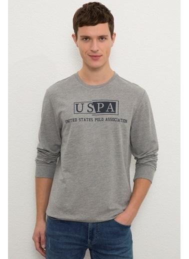 U.S. Polo Assn. US Polo ASSN Erkek Sweatshirt G081GL082 1086203 G081GL082 1086203011 Gri